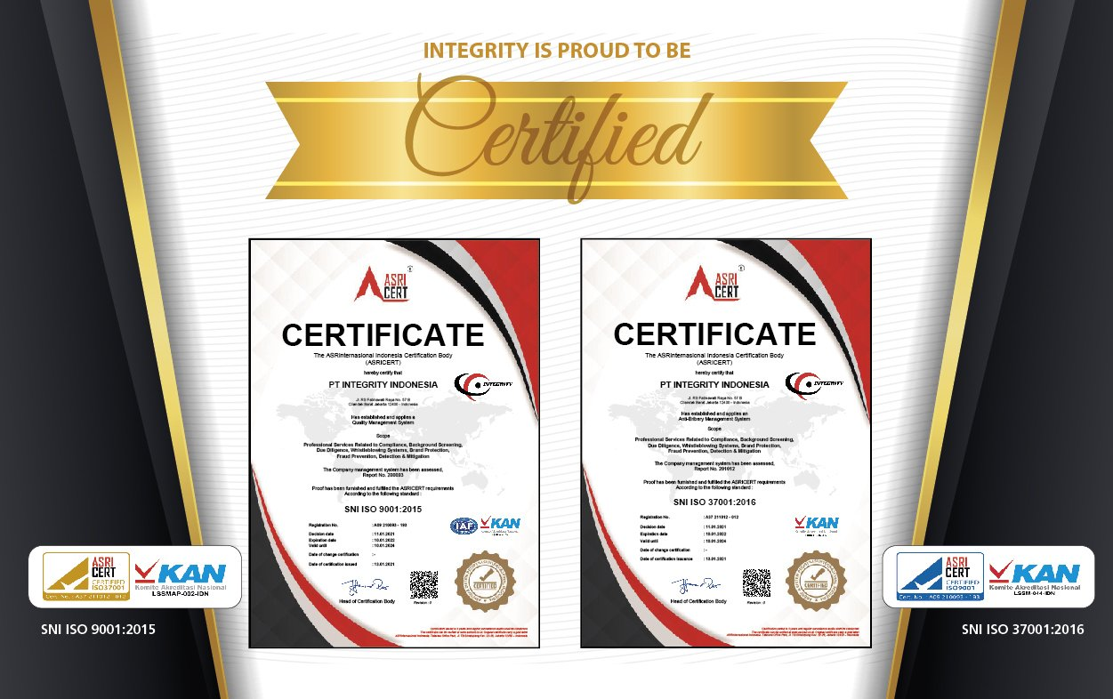 Proud to Announce: We are ISO 9001:2015 and ISO 37001:2016 Certified!