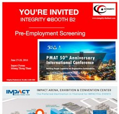 Integrity (Thailand) to Showcase Pre-Employment Screening